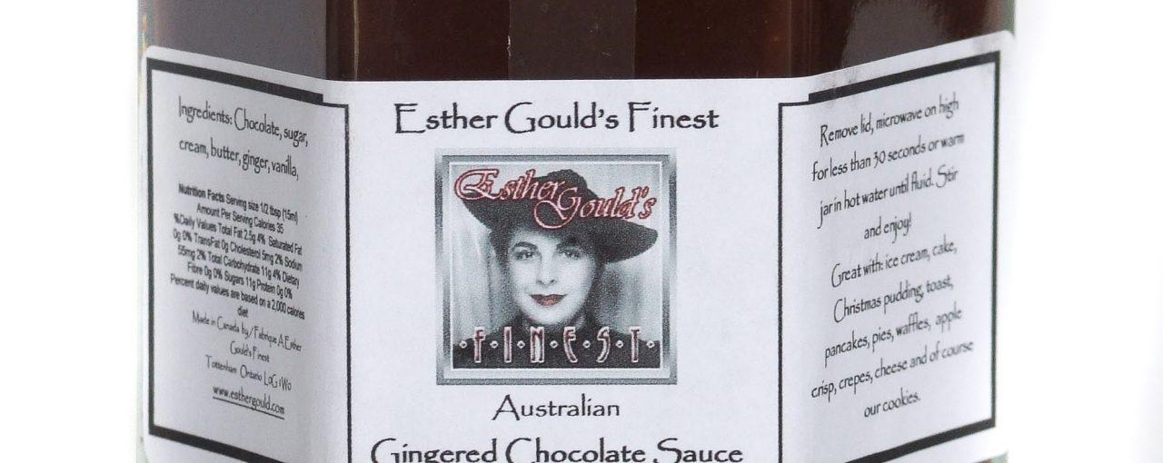 Australian Gingered Chocolate Sauce