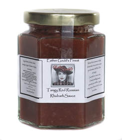 Tangy Red Russian Rhubarb Sauce